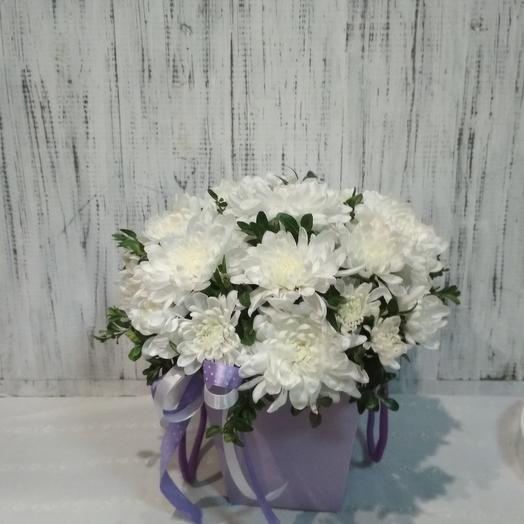 Цветочный комплимент с хризантемами: букеты цветов на заказ Flowwow