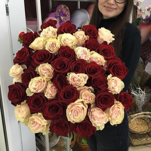 Розы красные с розовыми: букеты цветов на заказ Flowwow