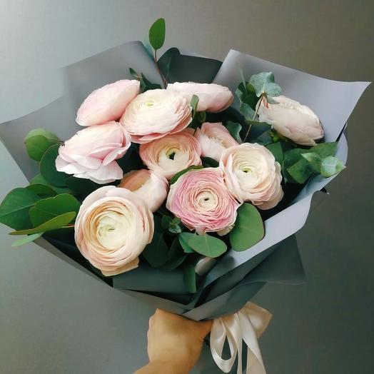 Букет с ранункулюсами ханой: букеты цветов на заказ Flowwow