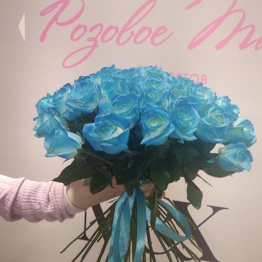 Розы синие: букеты цветов на заказ Flowwow