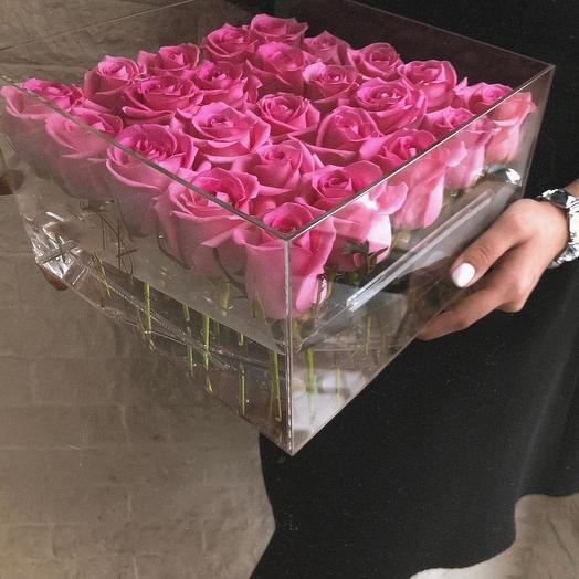 Кристалл бокс: букеты цветов на заказ Flowwow