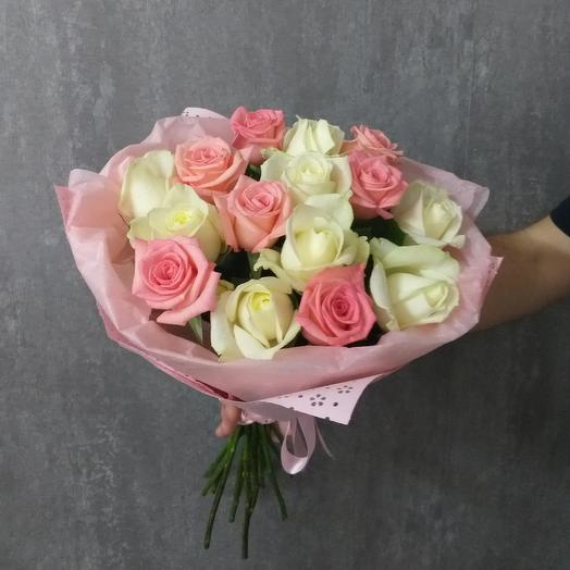 Букет из 17 роз 50 см: букеты цветов на заказ Flowwow