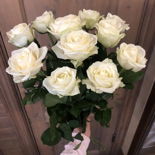 """Букет из белых роз """"11 белых розочек"""""""