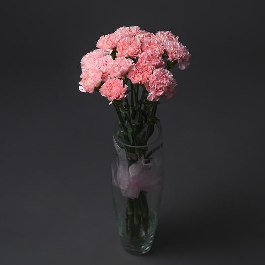 """Букет """"15 Розовых Гвоздик"""": букеты цветов на заказ Flowwow"""