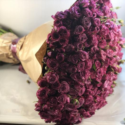 101 кустовая роза Бомбастик: букеты цветов на заказ Flowwow