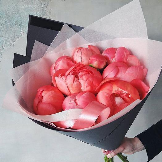 """Букет """"Корал Шарм"""" Small: букеты цветов на заказ Flowwow"""