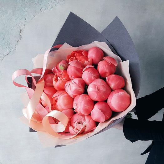 """Букет """"Корал Шарм"""" Medium: букеты цветов на заказ Flowwow"""