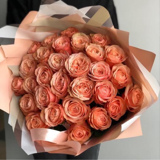 Букет из роз сорта Кахала: букеты цветов на заказ Flowwow