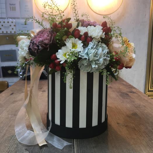 1 Шляпная коробка💐🔥: букеты цветов на заказ Flowwow
