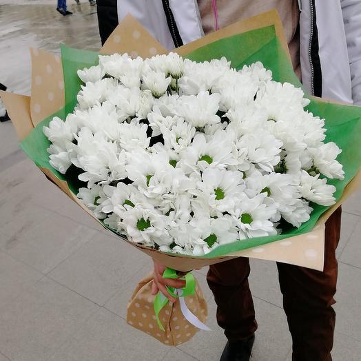 Ромашковая хризантема: букеты цветов на заказ Flowwow