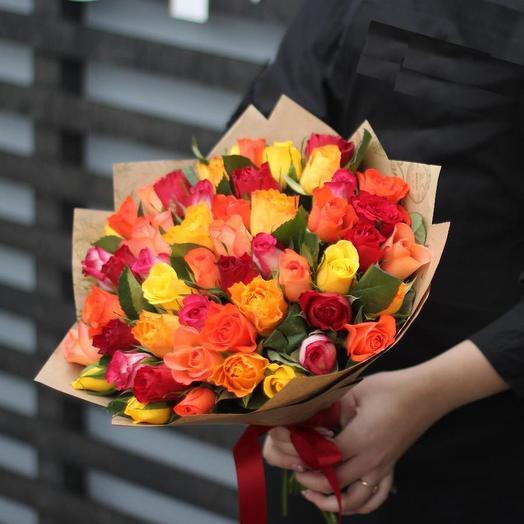 Букет 35 роз кения