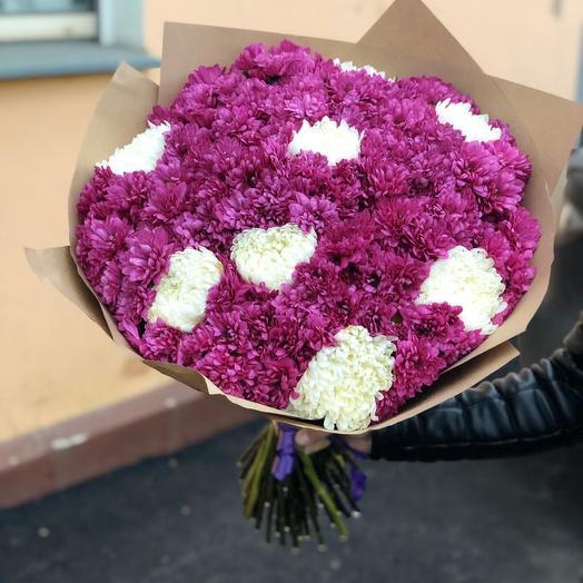 Хризантемы 75 шт: букеты цветов на заказ Flowwow