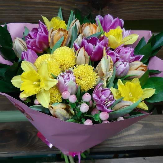 Весна для любимой: букеты цветов на заказ Flowwow