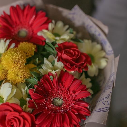 """Bouquet """"Bright smile"""": flowers to order Flowwow"""