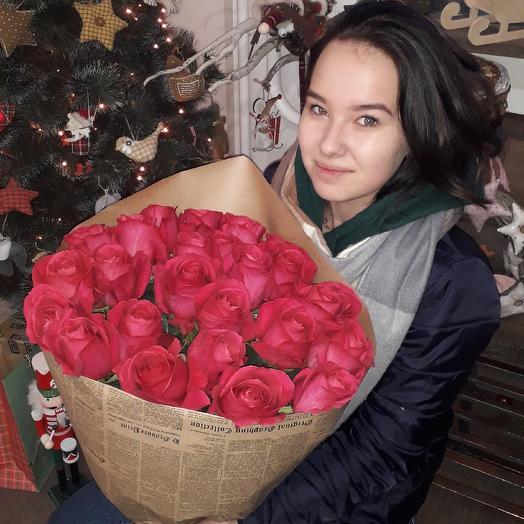 Букетик розовых роз: букеты цветов на заказ Flowwow