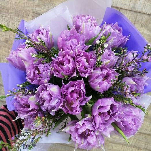 Шикарные пионовидные тюльпаны: букеты цветов на заказ Flowwow