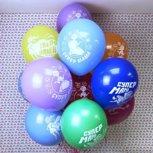 Фонтан из воздушных шаров «Супер мама»: букеты цветов на заказ Flowwow