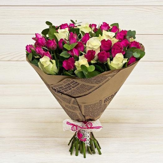 Восхитительный букет роз
