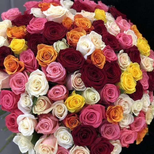 Яркое поздравление 101 роза