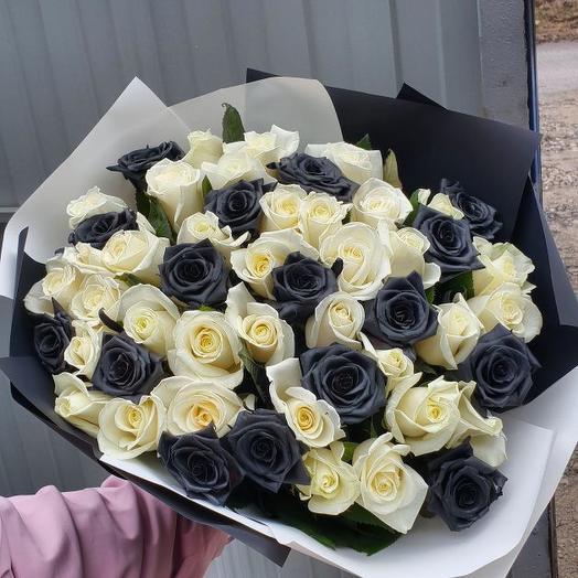 51 черная роза микс