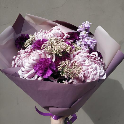 Сиреневый шарм: букеты цветов на заказ Flowwow