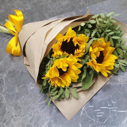 Букет подсолнухов «Солнечный»