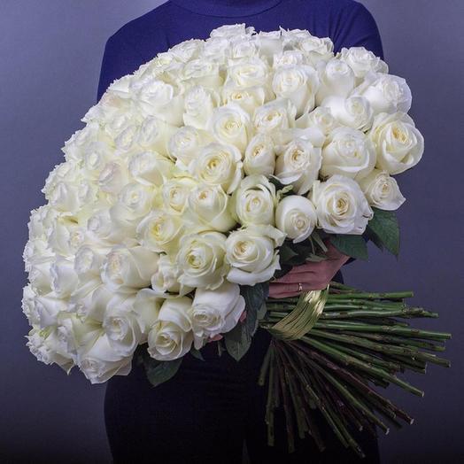 """Букет из белых роз """"Невинность и симпатия"""""""