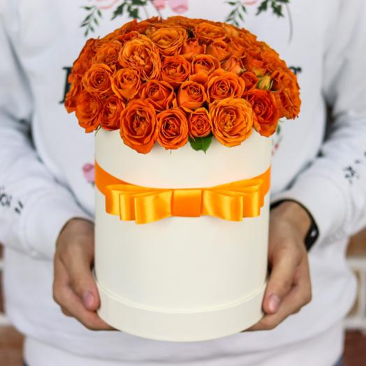 Коробки с цветами. Кустовые розы. N80