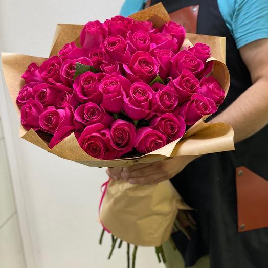 Букет роз « Розовое счастье»