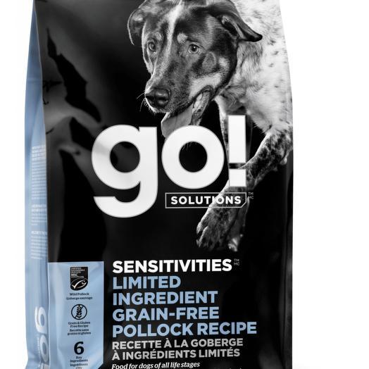 GO! беззерновой корм для щенков и собак с минтаем для чувствительного пищеварения 9,98 кг
