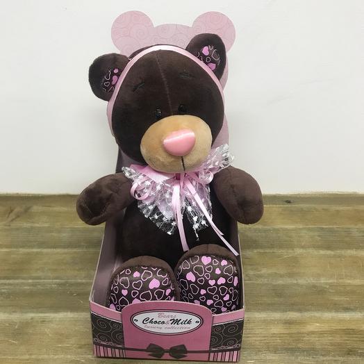 Мягкая игрушка мишка «Choco~milk» коллекционный