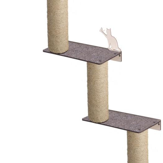 Настенный игровой комплекс для кошек Хвостович 127 цвет: бежевый