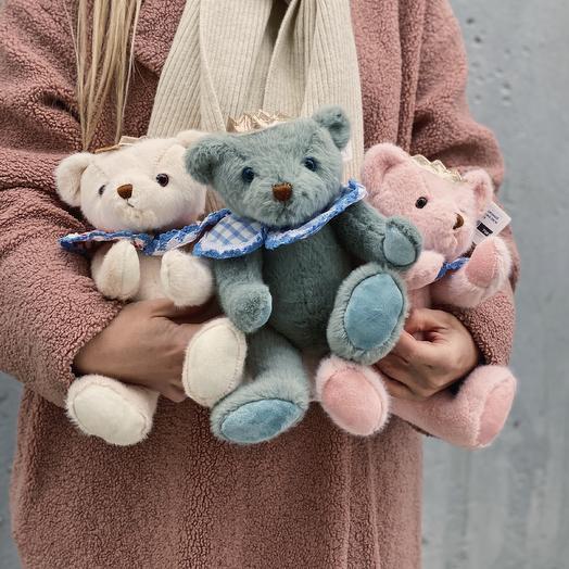 """Мягкая игрушка """"Медведь с короной"""" - ЦЕНА ДЕЙСТВИТЕЛЬНА ТОЛЬКО ПРИ ЗАКАЗЕ БУКЕТА"""