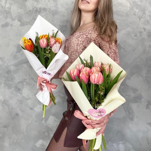 Комплимент из тюльпанов
