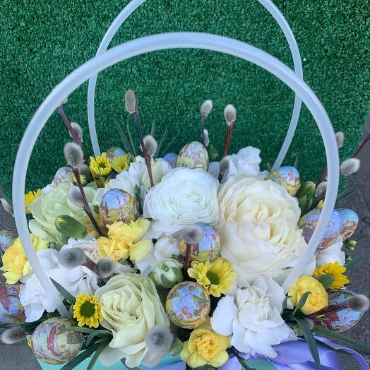 Корзина с цветами Пасха 5