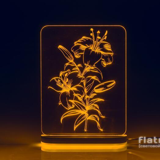 Лампа Лилии (1 цвет подсветки)