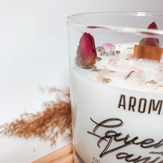Ароматическая свеча Aroma Mio «Лаванда Ваниль»