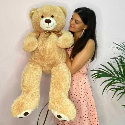 Бежевый Медведь игрушка