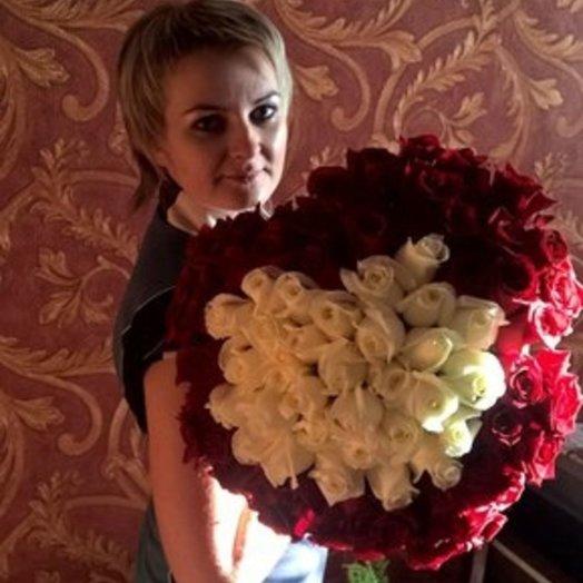 Букет Влюблённое сердце: букеты цветов на заказ Flowwow