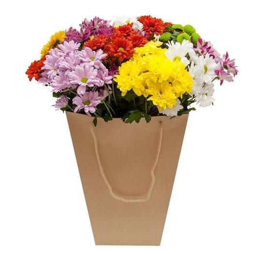 Хризантема в коробке Цветочные фантазии: букеты цветов на заказ Flowwow