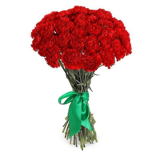 25 красных гвоздик: букеты цветов на заказ Flowwow