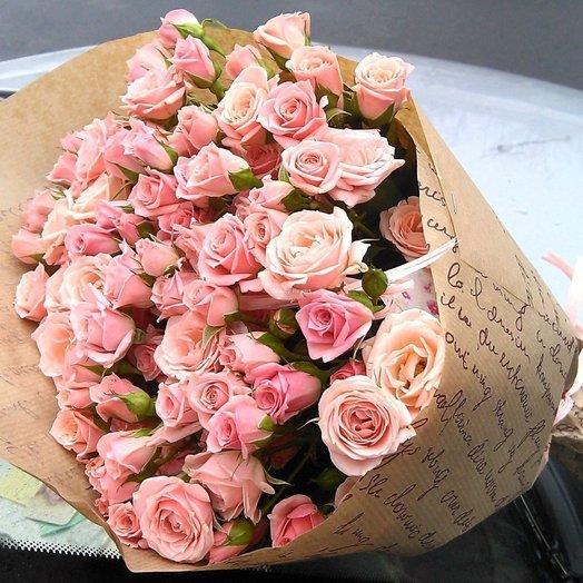 Букет нежных кустовых роз: букеты цветов на заказ Flowwow