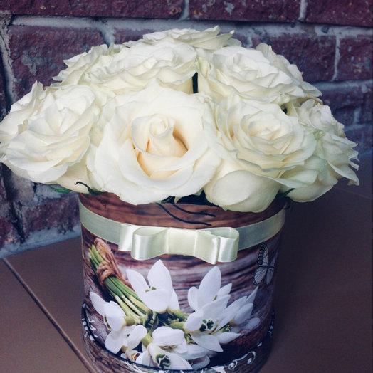 Тубус из роз: букеты цветов на заказ Flowwow