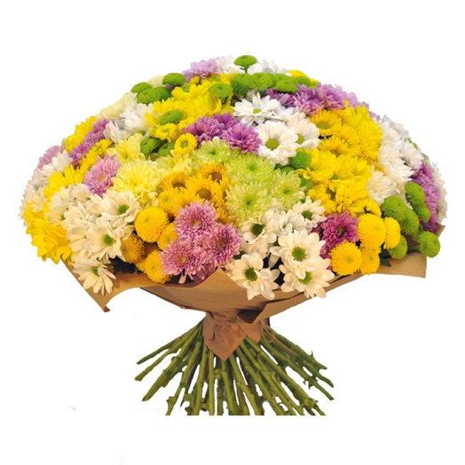 Букет 55 хризантем: букеты цветов на заказ Flowwow