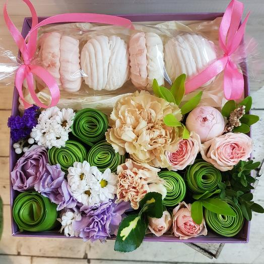 Сладкая коробочка цветов: букеты цветов на заказ Flowwow