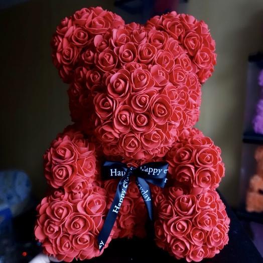 Мишка с бантиком: букеты цветов на заказ Flowwow