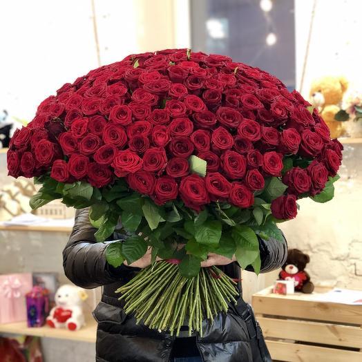 Букет 201 красная роза: букеты цветов на заказ Flowwow