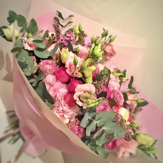 Бомбически нежный ! Букет с сиренью и ранункулюсами: букеты цветов на заказ Flowwow