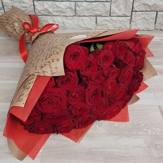 Букет и 29 красных роз: букеты цветов на заказ Flowwow