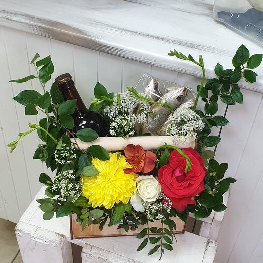 Для настоящего мужчины: букеты цветов на заказ Flowwow
